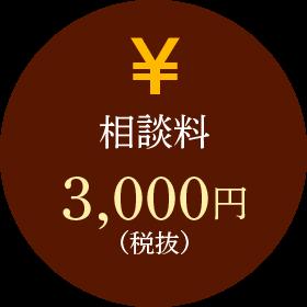 相談料 3,000円(税抜)